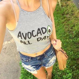 Avocado crop top by Charlotte Russe